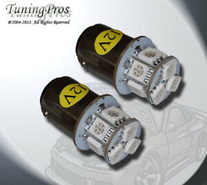 (1 Pair) Set of 2 pc Parking Light 1157 9 SMD Amber LED Light Bulb 1157A 2357A