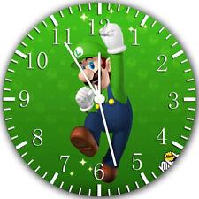 Luigi Super Mario Frameless Borderless Wall Clock Nice For Gifts or Decor Z81