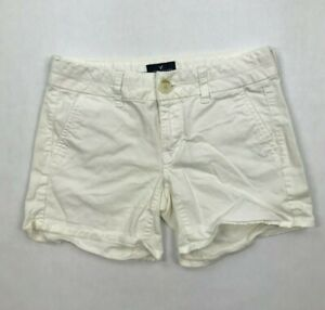 American Eagle Outfitters Stretch Midi Off White Chino Shorts Size 0