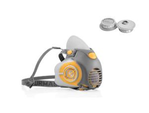 Maschera con filtro P3R 2 filtri aerosol vernici Protettiva DPI semimaschera