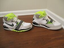 Used Worn Size 14 Nike Air Trainer SC II 2 Shoes White Black Volt Gray Silver