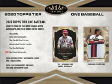 2020 Topps Tier One Baseball Hobby Box (Presell)