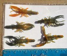 """48ct SWEET POTATO CAMO 3"""" LifeLike CRAWFISH,Craws,Walleye, Bass Fishing Lures"""