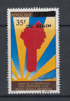 Benin 1992 Benin overprint on Map Sc 690E fine used