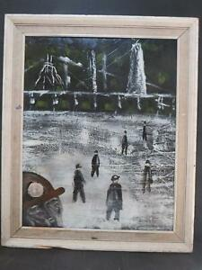 Northern School Coal Mining China Clay Oil 1960s Vintage Modern British Nocturne