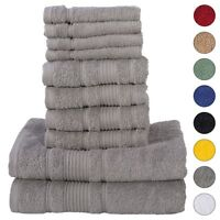 NEW GREY Color ULTRA SUPER SOFT LUXURY PURE TURKISH COTTON  8 PCS TOWELS SETS