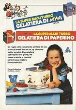 X2533 La Super Maxi Turbo GELATIERA di MINNI - Pubblicità 1991 - Advertising
