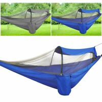 Portable Double Hammock w/ Mosquito Net Outdoor Camping Hanging Swing Bed 660Lb