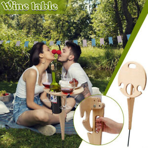 Outdoor Wine Picnic Collapsible Table Portable Racks fit for Furniture Outdoor