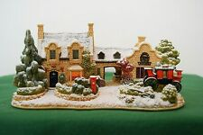 """Lilliput Lane Snow Cottage """"The Old Forge At Belton"""" Mint in box with deed."""