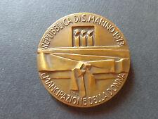 MEDAGLIA REPUBBLICA S MARINO EMANCIPAZIONE DELLA DONNA 1973 diam 5 cm SUBALPINA