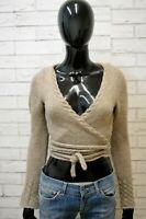 LIU JO Maglione Cardigan Donna Taglia 42 Pullover Maglia a Fascia Sweater Woman
