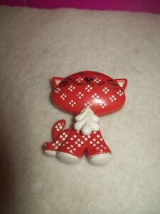 Avon RED CAT Pin Fragrance Glace Vintage