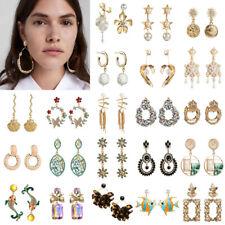 Fashion Women Lady Pearl Crystal Earrings Ear Stud Dangle Drop Statement Jewelry