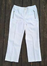 Dana Buchman White Straight Leg Capris Pants Zipper Pockets 28 x 24 Size 4