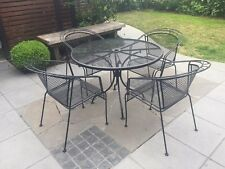 Five Piece Contemporary Steel Outdoor Setting including seat cushions