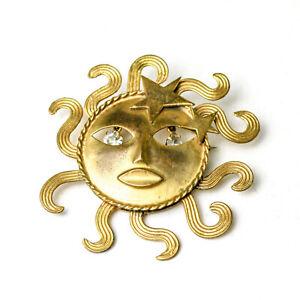 Rare Vintage Joseff of Hollywood Sun God Brooch