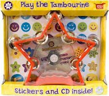 PLAY THE TAMBOURINE OPEN AND PLAY SET - INCLUDES STICKERS & CD - STAR MAKER