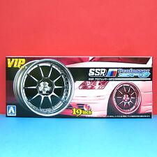 Aoshima 1/24 19 inch SSR [Professor SP3] wheel & tire model kit #009192