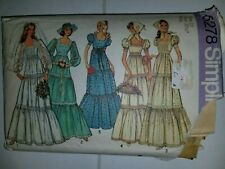 Dress Wedding Bridesmaid Scarf Simplicity Sewing Pattern 6278 Cut Size 12 Vtg