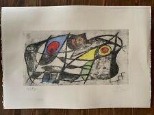 JOAN MIRO' - Etching on original papet of 1960's