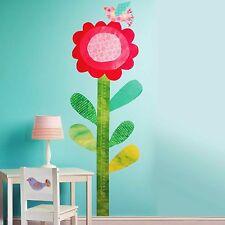 Wandsticker Messlatte Kinderzimmer Blume Vogel Wallies selbstklebend ablösbar