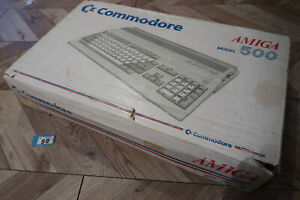Commodore Amiga 500 Computer Box and Inserts only
