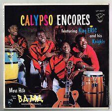 KING ERIC &HIS KNIGHTS-calypso encores     carib LP   (hear)   calypso