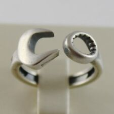 0df7eb70694659 ANELLO IN ARGENTO 925 BRUNITO CON CHIAVE INGLESE STILE VINTAGE MADE IN ITALY