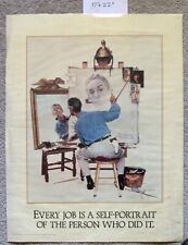 """NORMAN ROCKWELL Self-Portrait Inspirational Poster 17"""" x 22"""" Laminated"""
