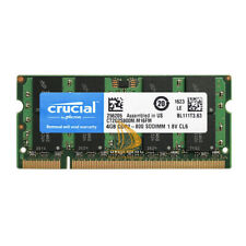 Crucial 4GB 2RX8 PC2-6400 DDR2-800MHz DDR2 200Pin SO-DIMM Laptop Memory ddr2 4gb