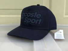 Lacoste 2020 Flat Bill Novel Lacost Sports Solid Cap Hat $55 NWT Navy