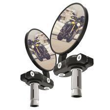 "Oxford Bar End Black Motorcycle Motorbike Pair Mirrors 7/8"" 22.2mm Bars OX577 T"