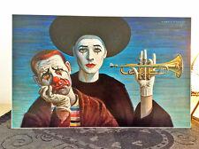ORIGINAL RARE Tretchikoff Clowns 1960s Print - Vintage Art Print