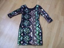 Ladies sequinned dress by EVE SEDUIRE GOLD COLLECTION sz 10 small fitting fit 8