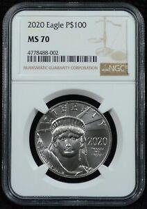 2020 $100 1 Ounce Platinum Eagle Coin NGC MS 70