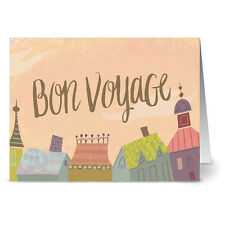 24 Note Cards - Bon Voyage - Kraft Envs