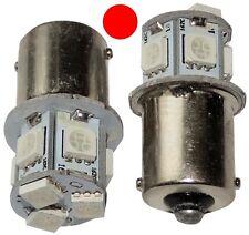2x ampoule P21W R5W R10W 12V 8LED SMD rouge base 1156