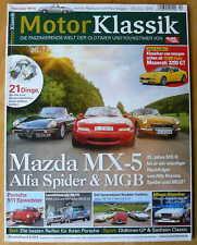 Motor Klassik 10/2014, Mazda MX5, Fiat Spider, MGB, usw.