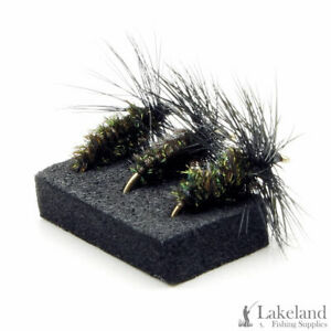 3, 6 or 12x Black & Peacock Dry Trout Flies for Fly Fishing