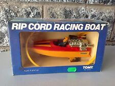 1982#Tomy Rip Cord Racing Boat Nib 6510#Nrfb Rare