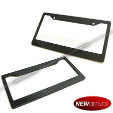 For: S10 Black Carbon Fiber Look Painted License Plate Frame x 2