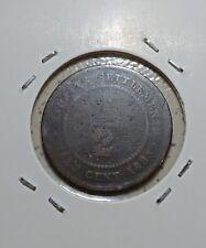 Straits Settlements Victoria 1883 1/2 cent VGOOD RARE YEAR