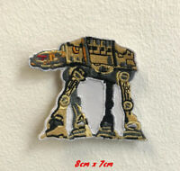 Star Wars AT AT art badge Iron on Sew on Embroidered Patch applique