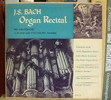 Bach Piet van Egmond Oude Kerk, Amsterdam MMS Blue & silver label LP NM, CV EX-