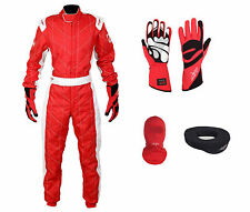 LRP Adult Kart Racing Suit- Speed Suit Package Deal 2 Red/White