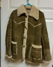 KNIGHT TAILORS New Zealand Shearling Sheepskin Coat Jacket Size 16 Women's