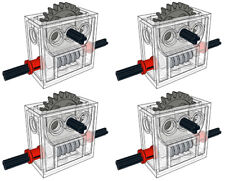 x4 Lego Gear REDUCER Block (technic,mindstorms,ev3,gearbox,worm,compact,robot)