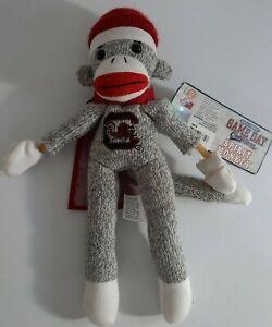 Auburn Gamecock Plush Sock Monkey Toy Flying Screaming Slingshot Spirit Monkey