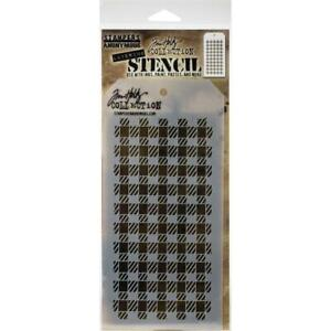 Tim Holtz Layering Stencil ~ GINGHAM ~ THS134 ~ Stampers Anonymous